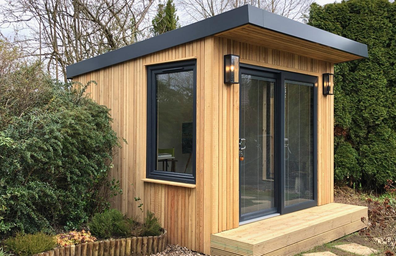 March 2019 - The finished garden room in Edinburgh. See www.outsideingardenrooms.co.uk for details