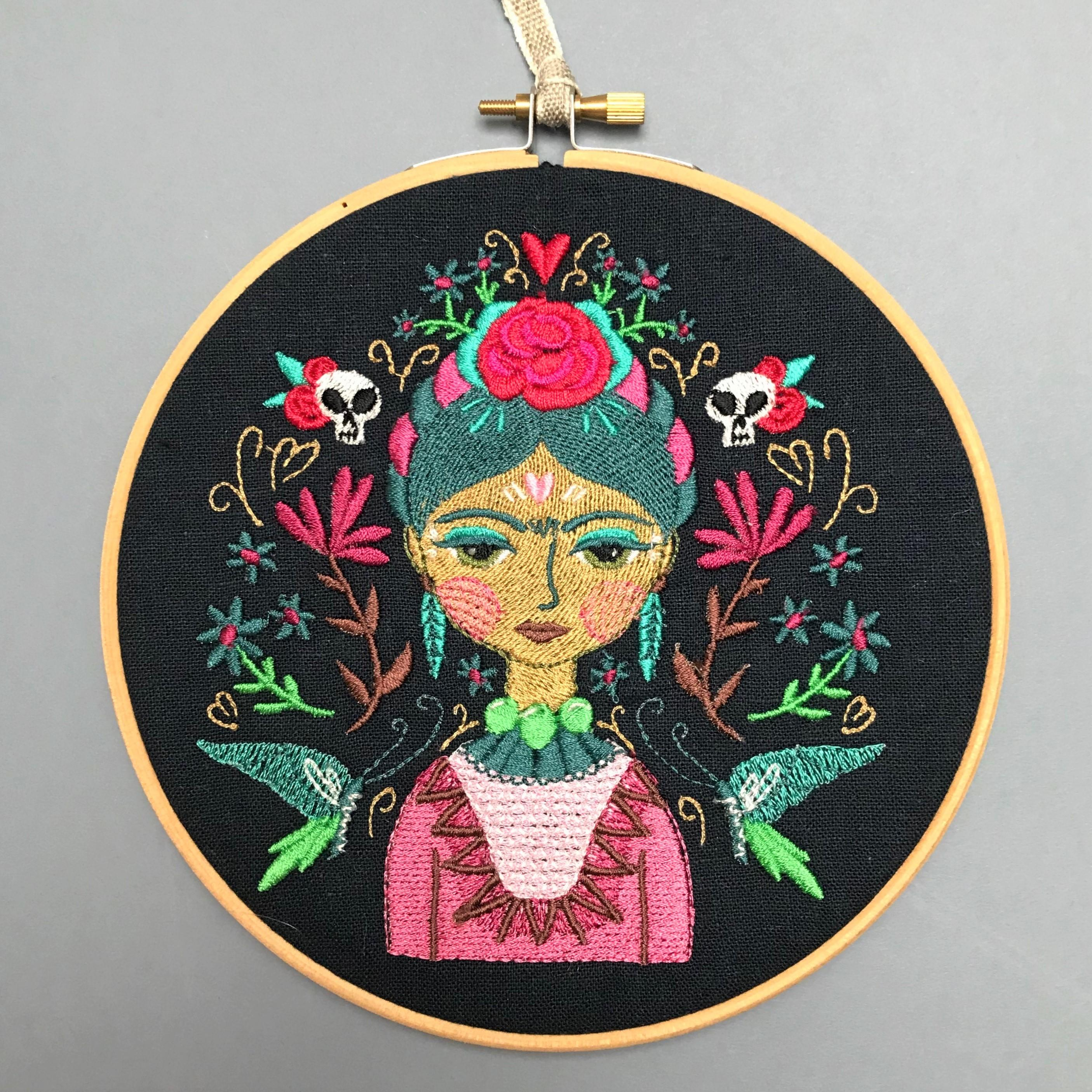 machine embroidery wall art