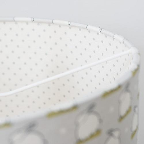 grey spot lined lampshade