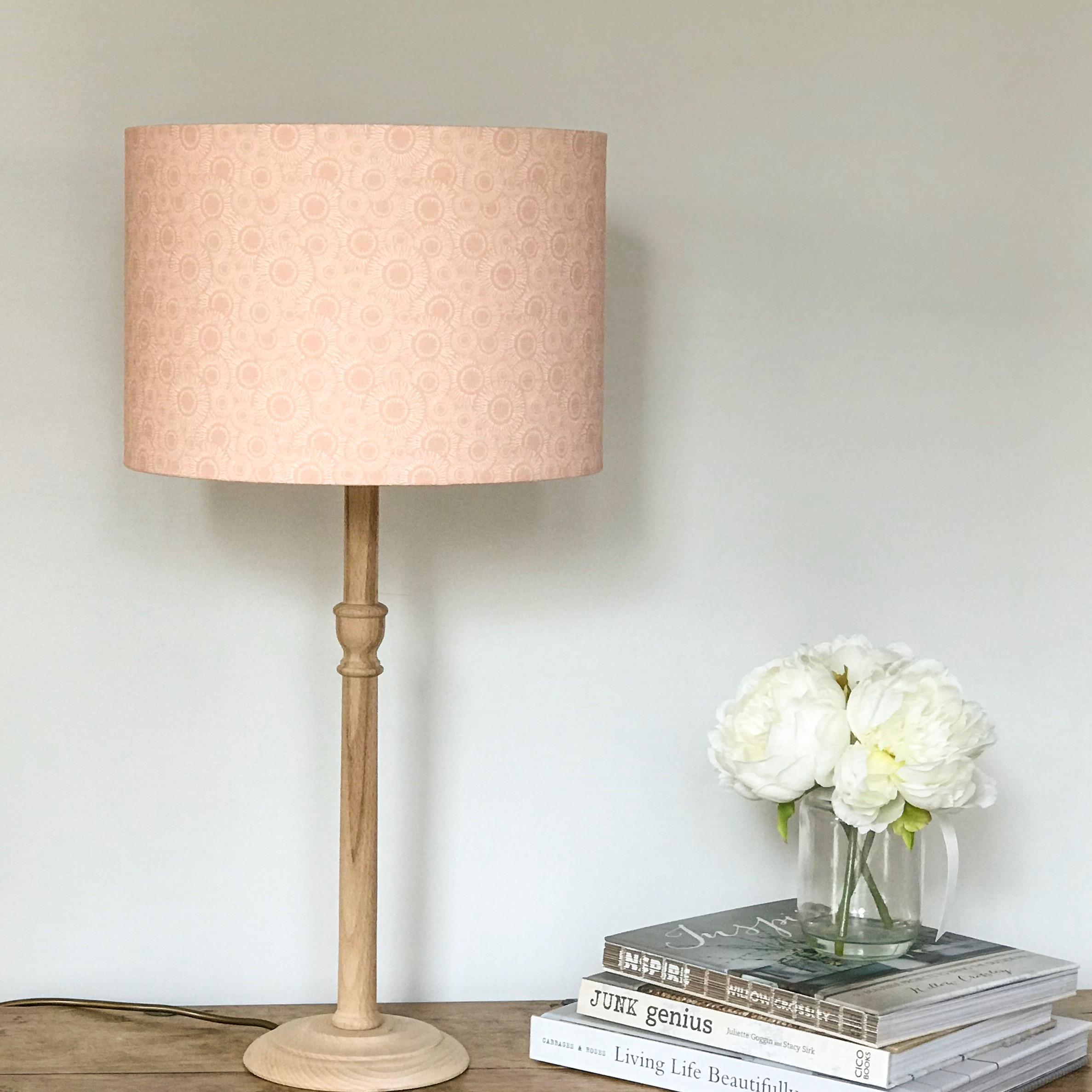 Peach blush Lampshade