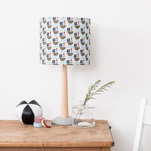 Pirate ship print lampshade