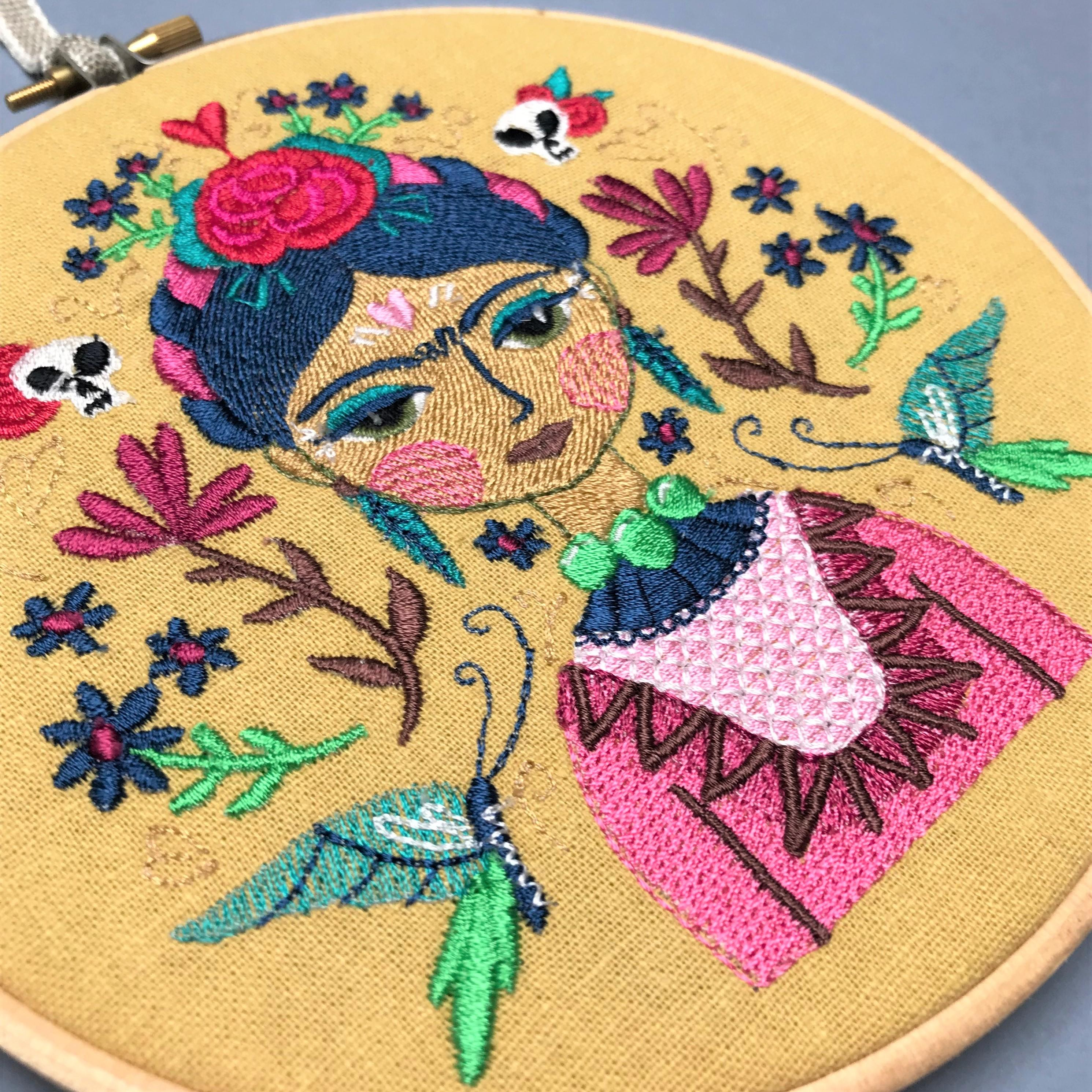 Mexicana wall art embroidery