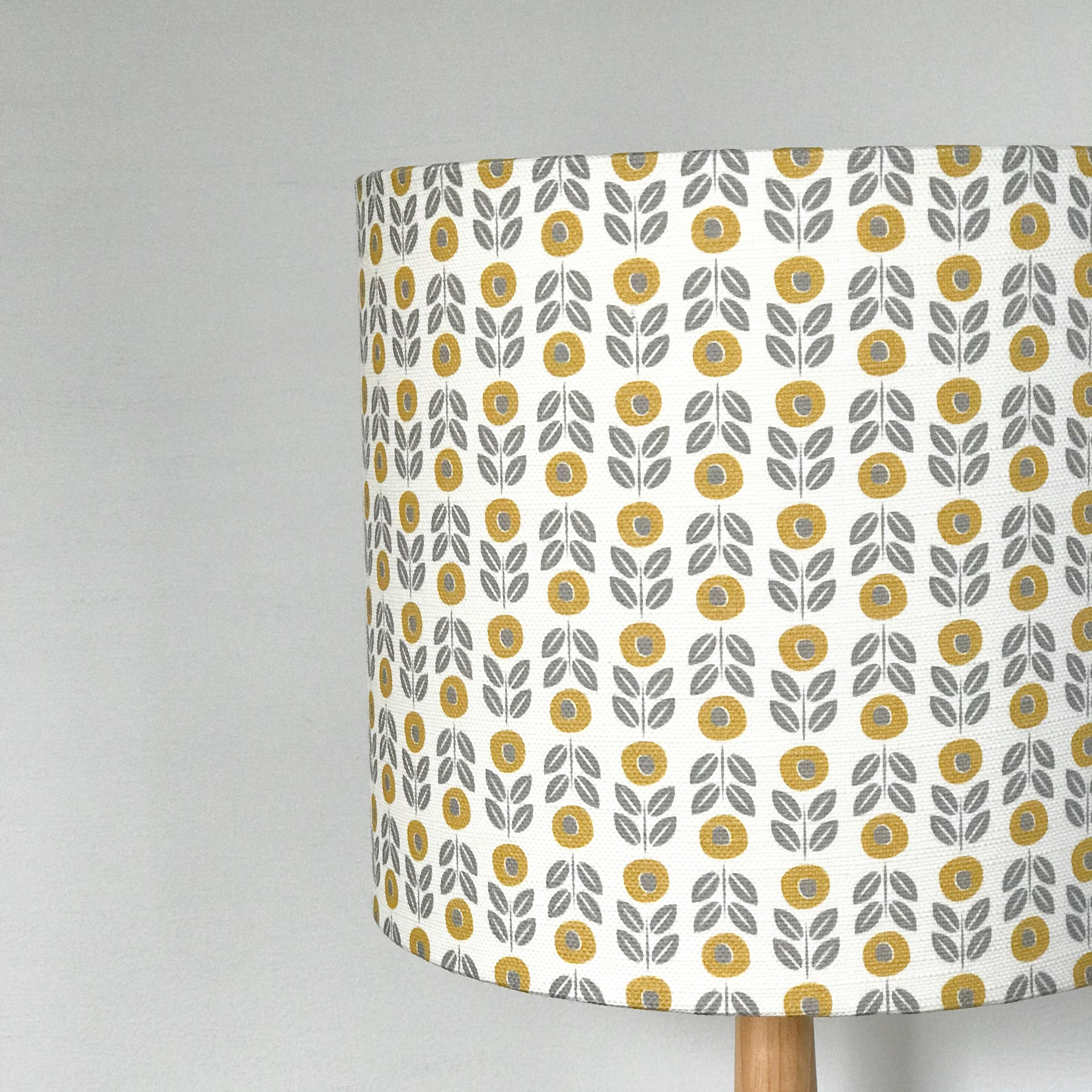 astrid floral linen lampshade