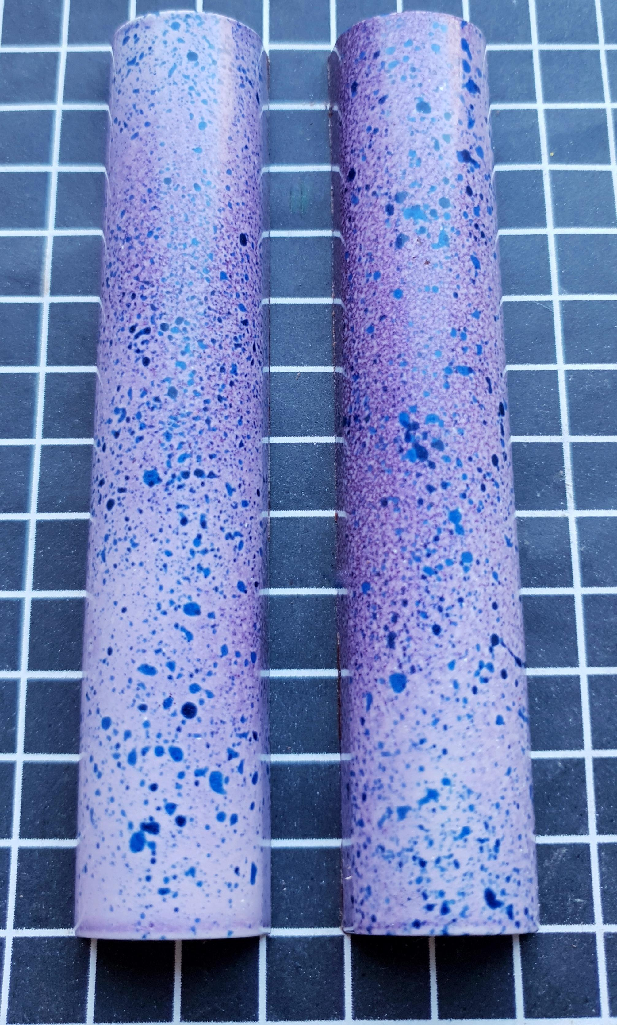 Blueberry and Violet Chocolate Bar