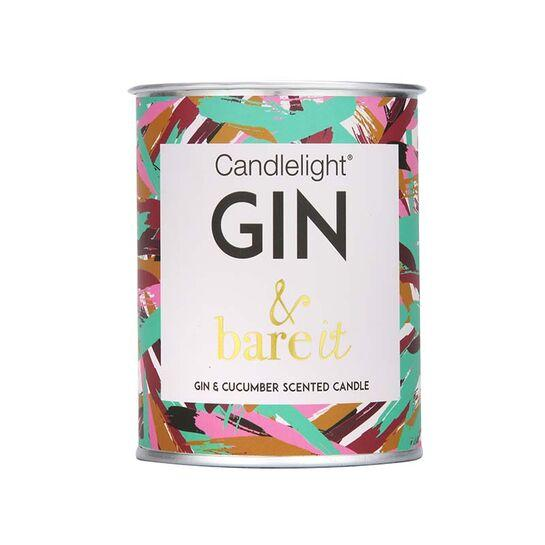 candlelight gin & bare it candle