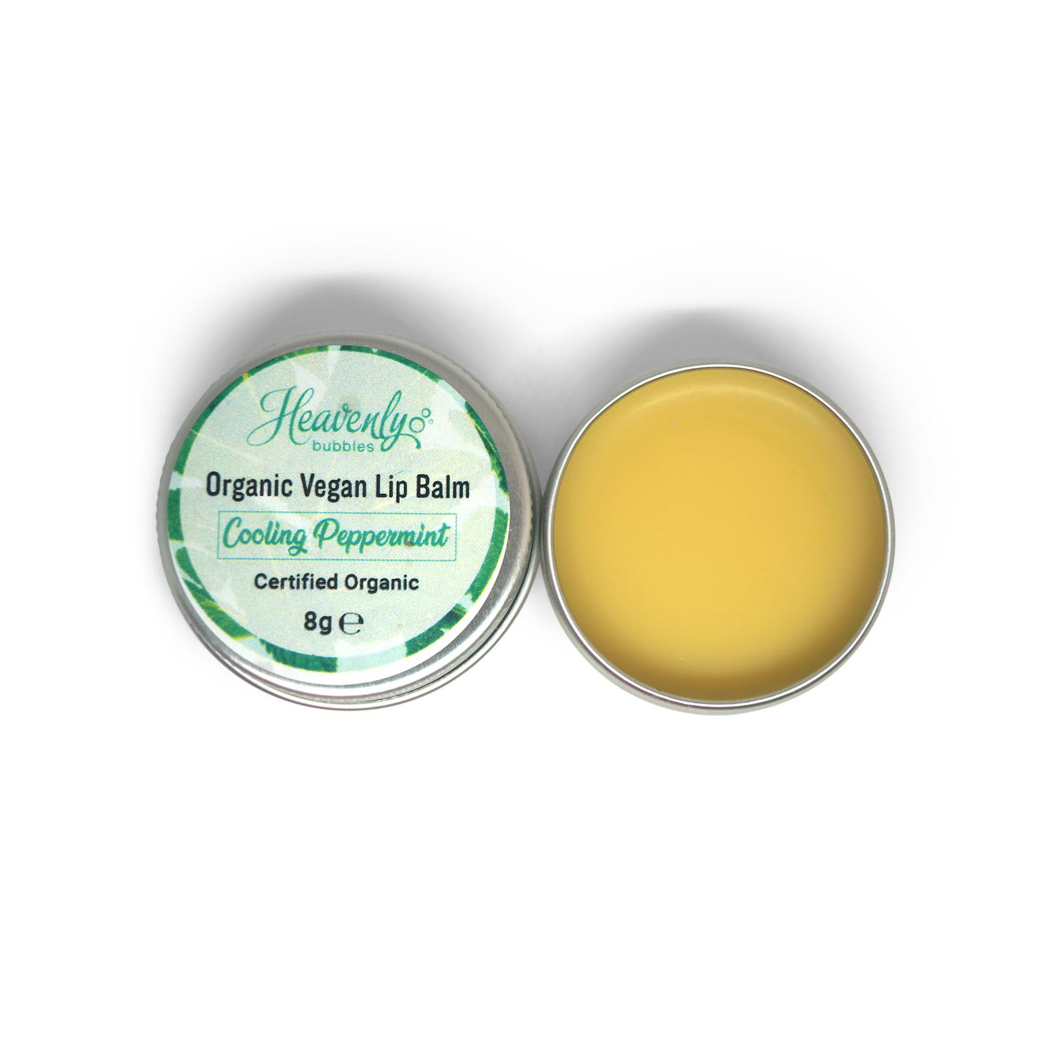 vegan peppermint lip balm
