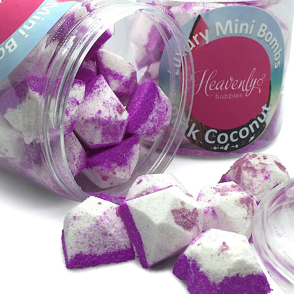 coconut mini bath bombs