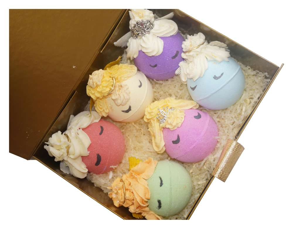 angels bath bomb gift set