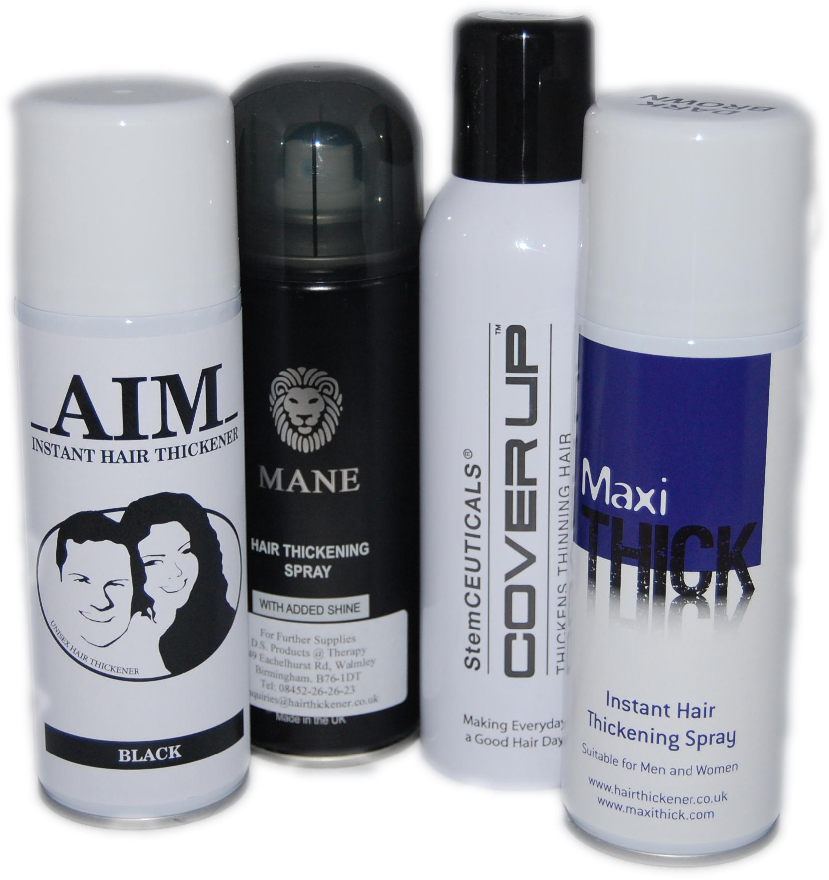 Instant Hair Thickening Sprays
