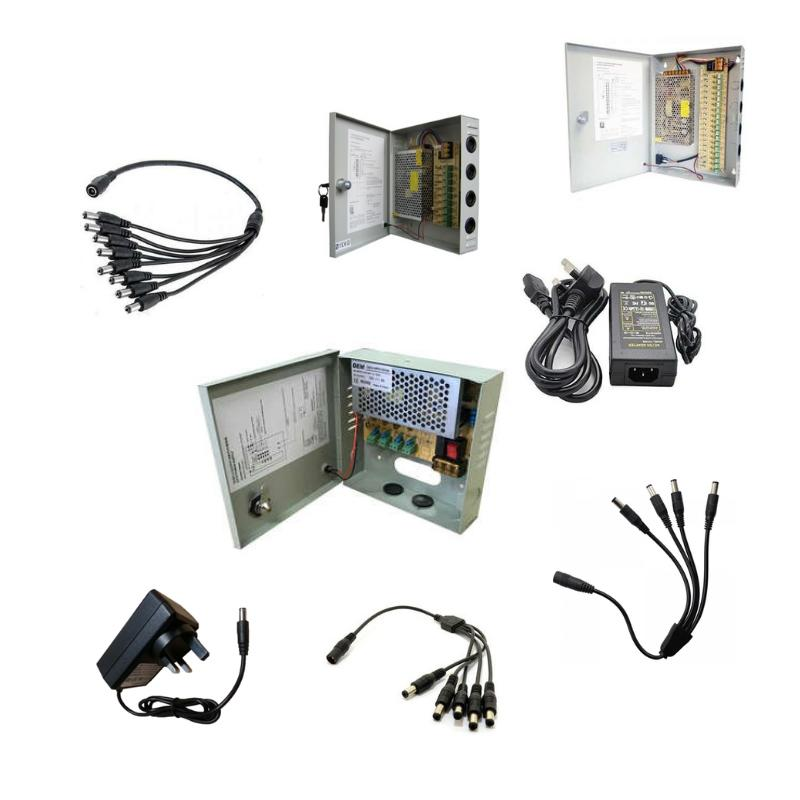 12V POWER SUPPLIES & SPLITTERS