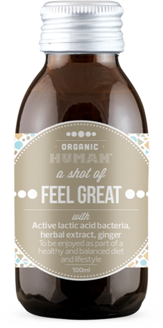 Organic Human Shot Feel Great with ginger