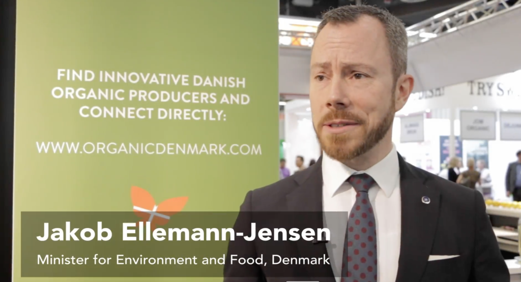 The minister is a huge fan of Danish organic