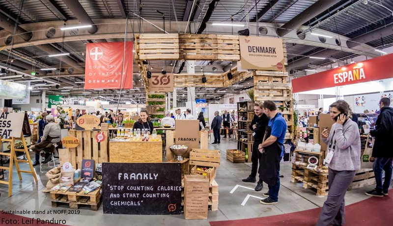 Organic Denmark builds sustainable stand at Nordic Organic Food Fair 2019