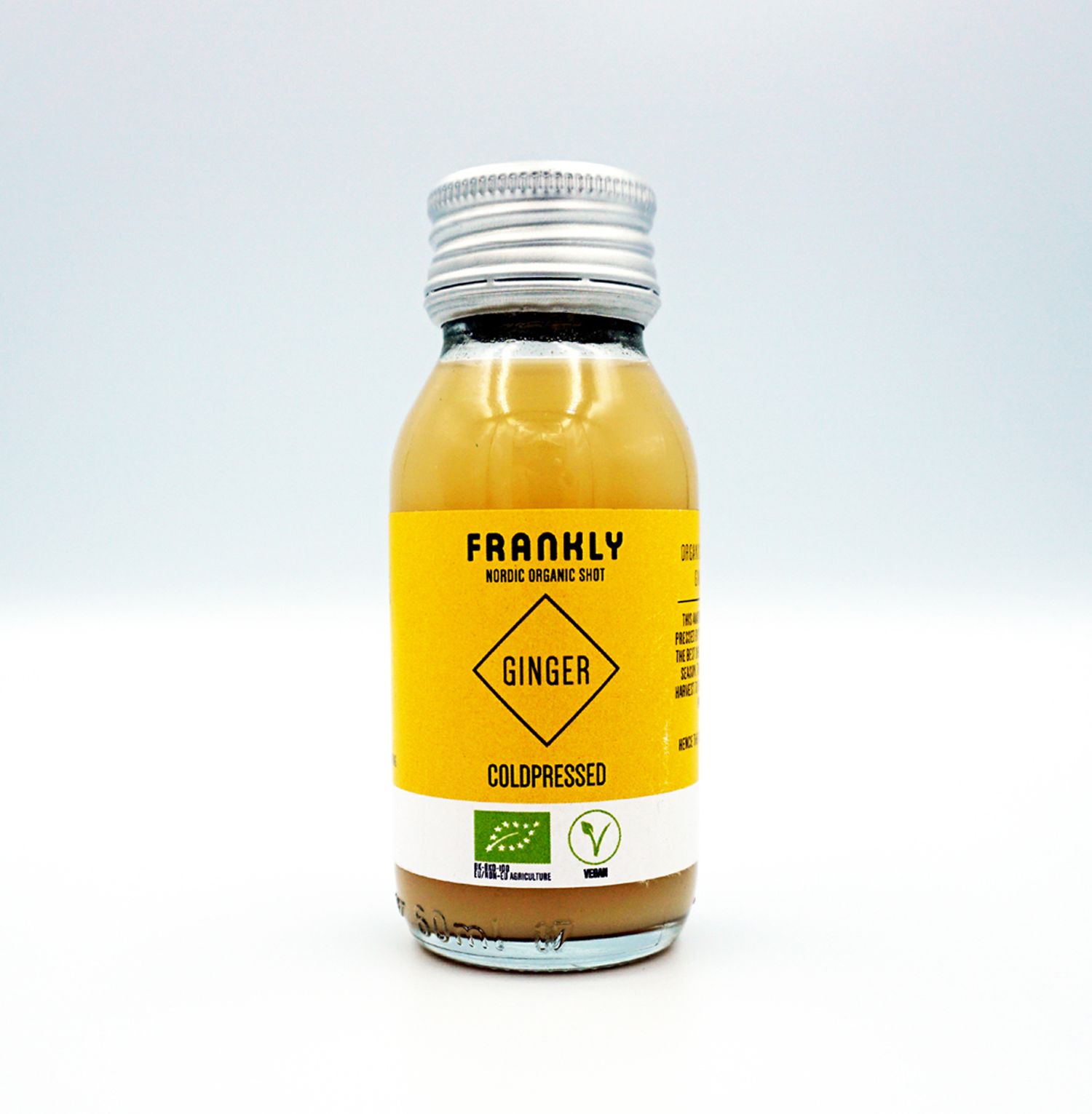 FRANKLY Nordic Organic Shot, Ginger, 60 ml + 330 ml