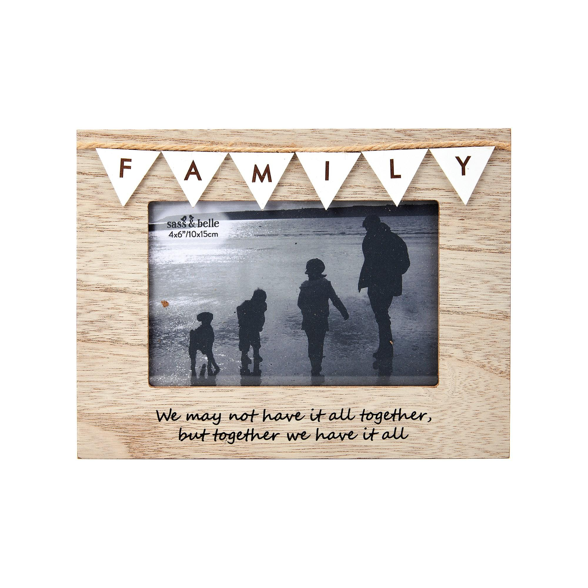 family bunting photo frame