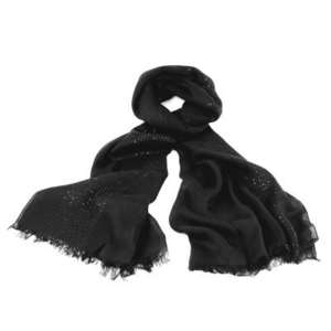 sequin scarf black