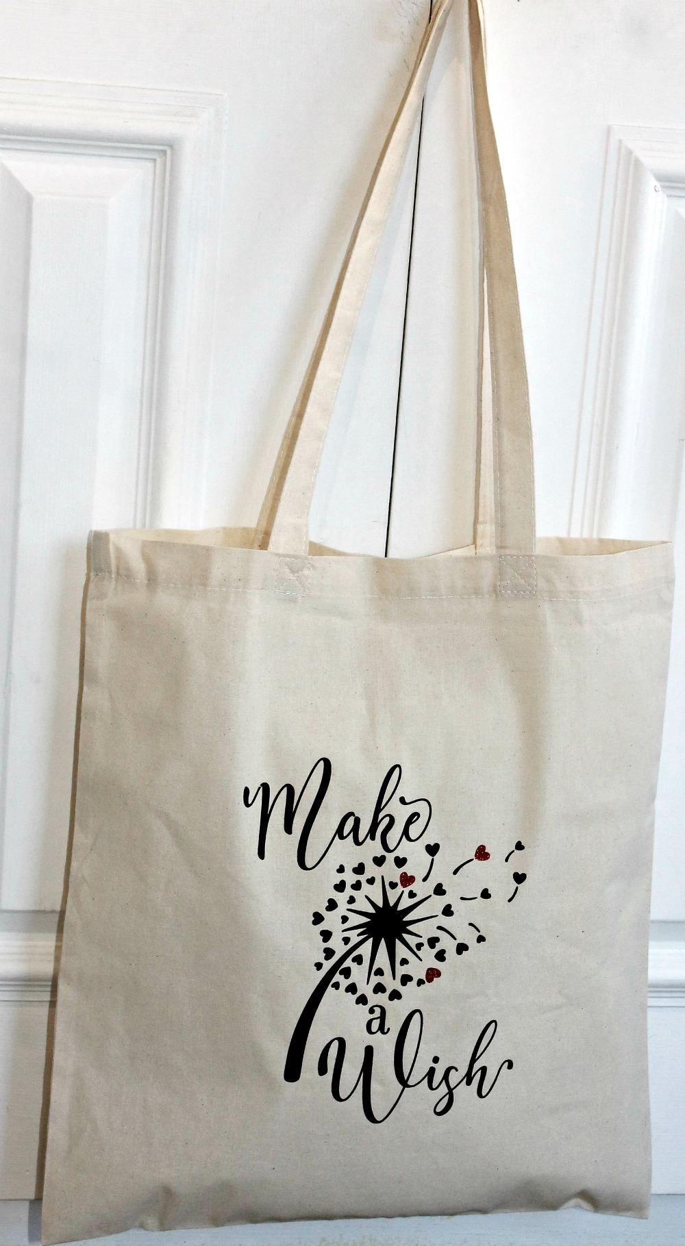 make a wish cotton tote
