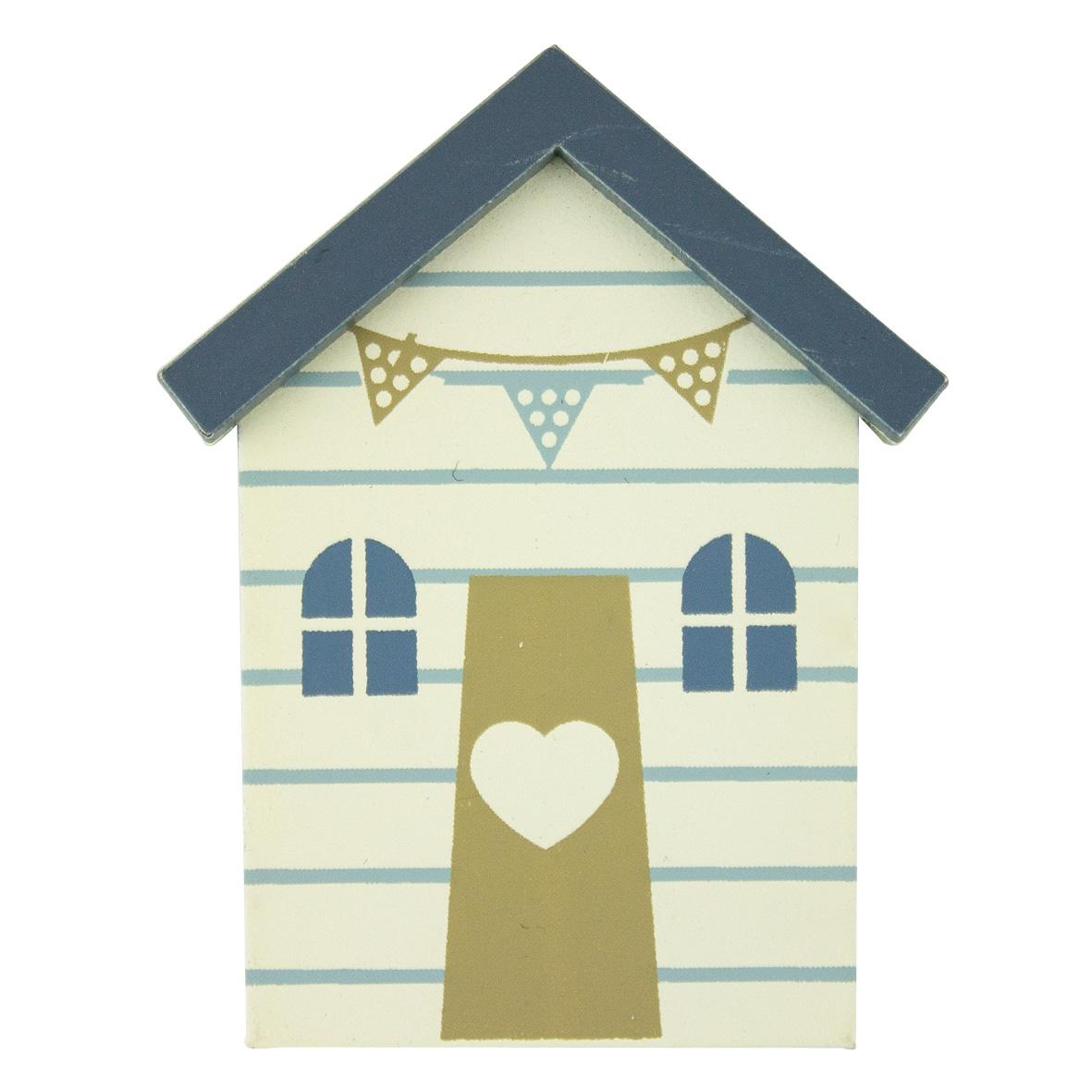 beach hut magnet stripes