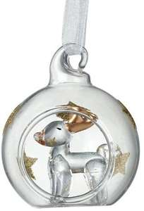 mini glass reindeer bauble
