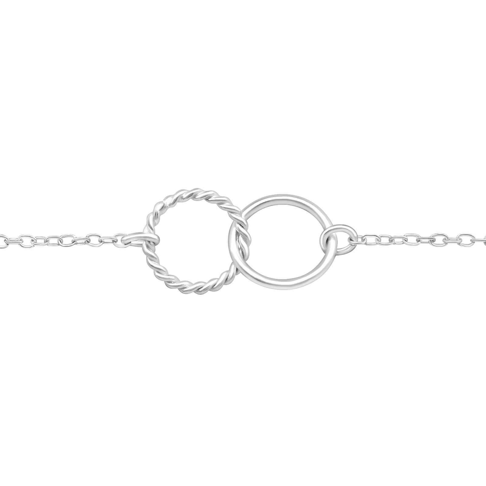 silver interlocked circles bracelet