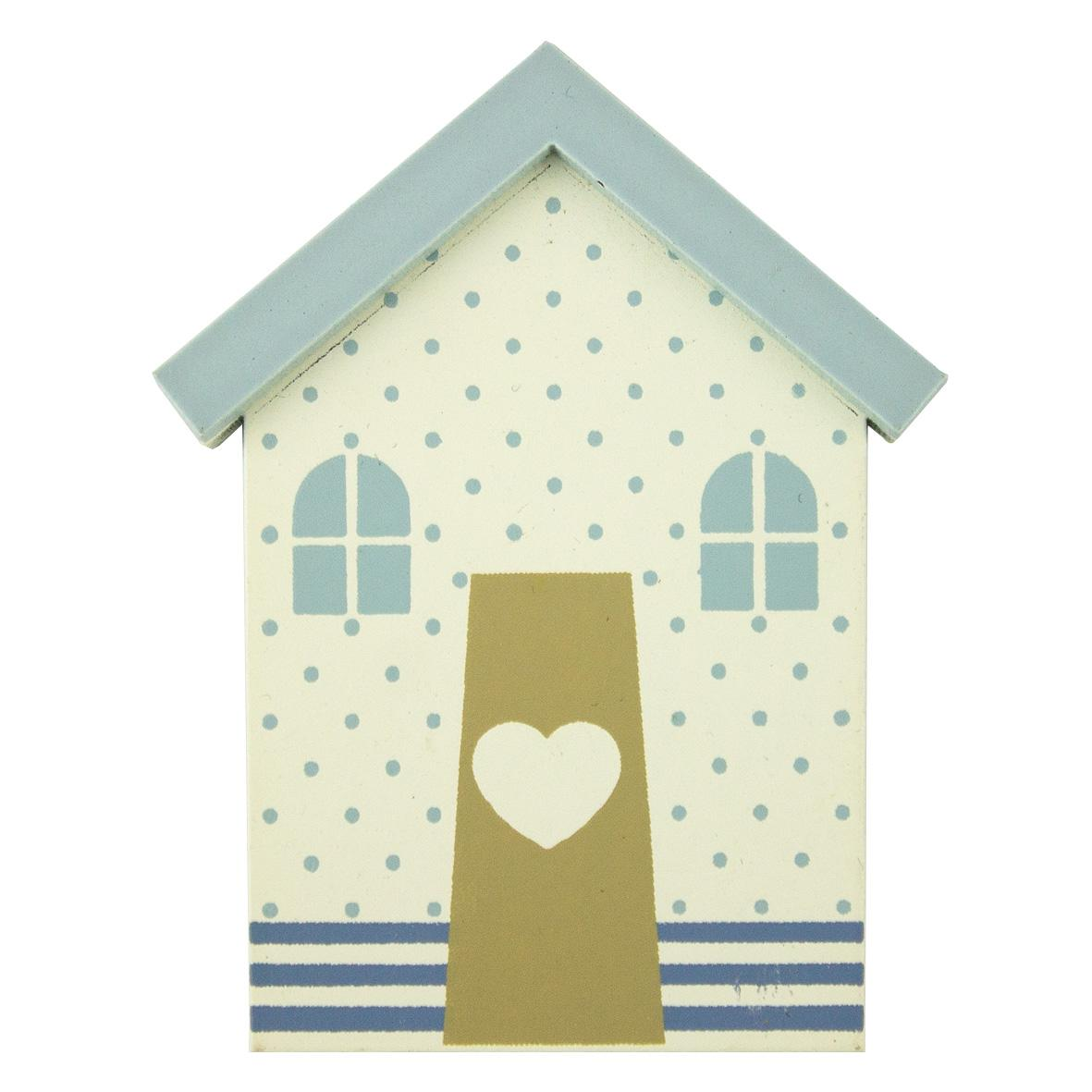 beach hut magnet dots