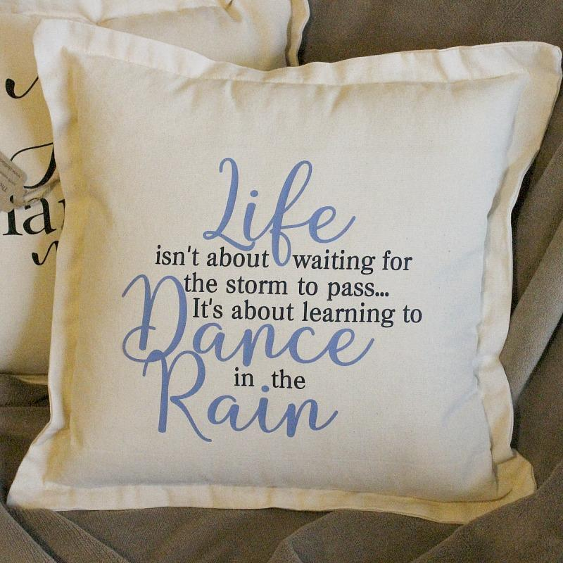 Dance in the rain cushion