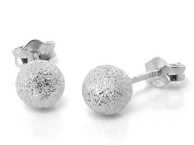 silver stardust earrings