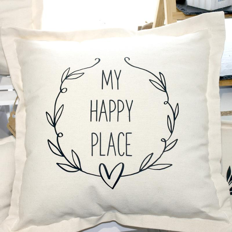 my happy place cushion