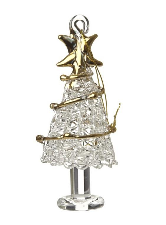 glass xmas tree gold garland
