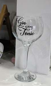 gin is my tonic glass