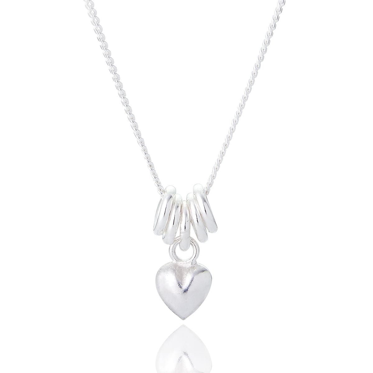 silver sweetie heart necklace