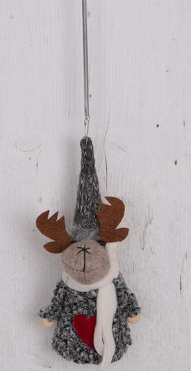 fabric reindeer springy decoration