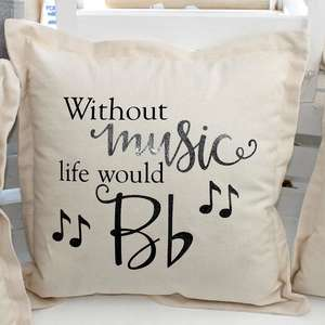 life without music cushion