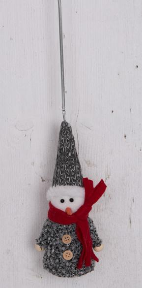 fabric snowman springy decoration