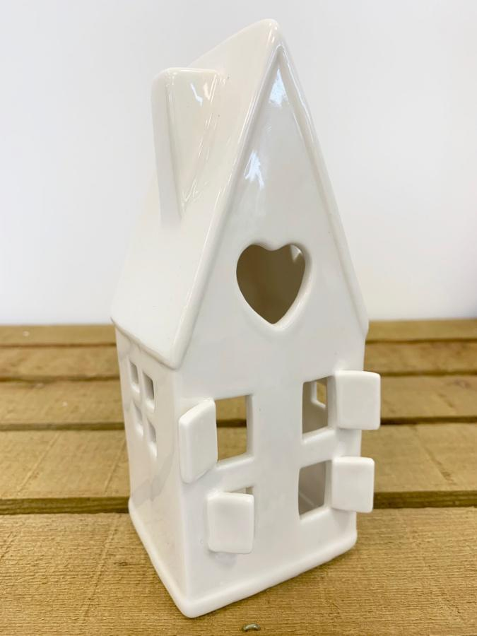 ceramic house tea light holder