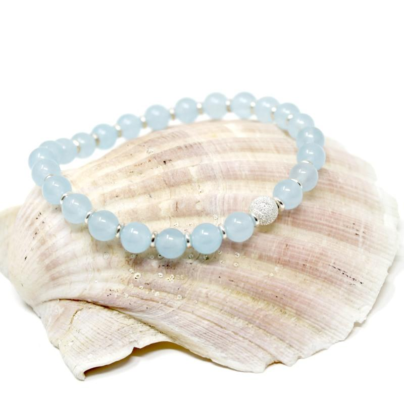 blue jade and silver bracelet