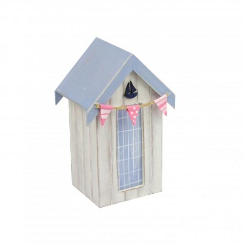Beach hut money box yacht