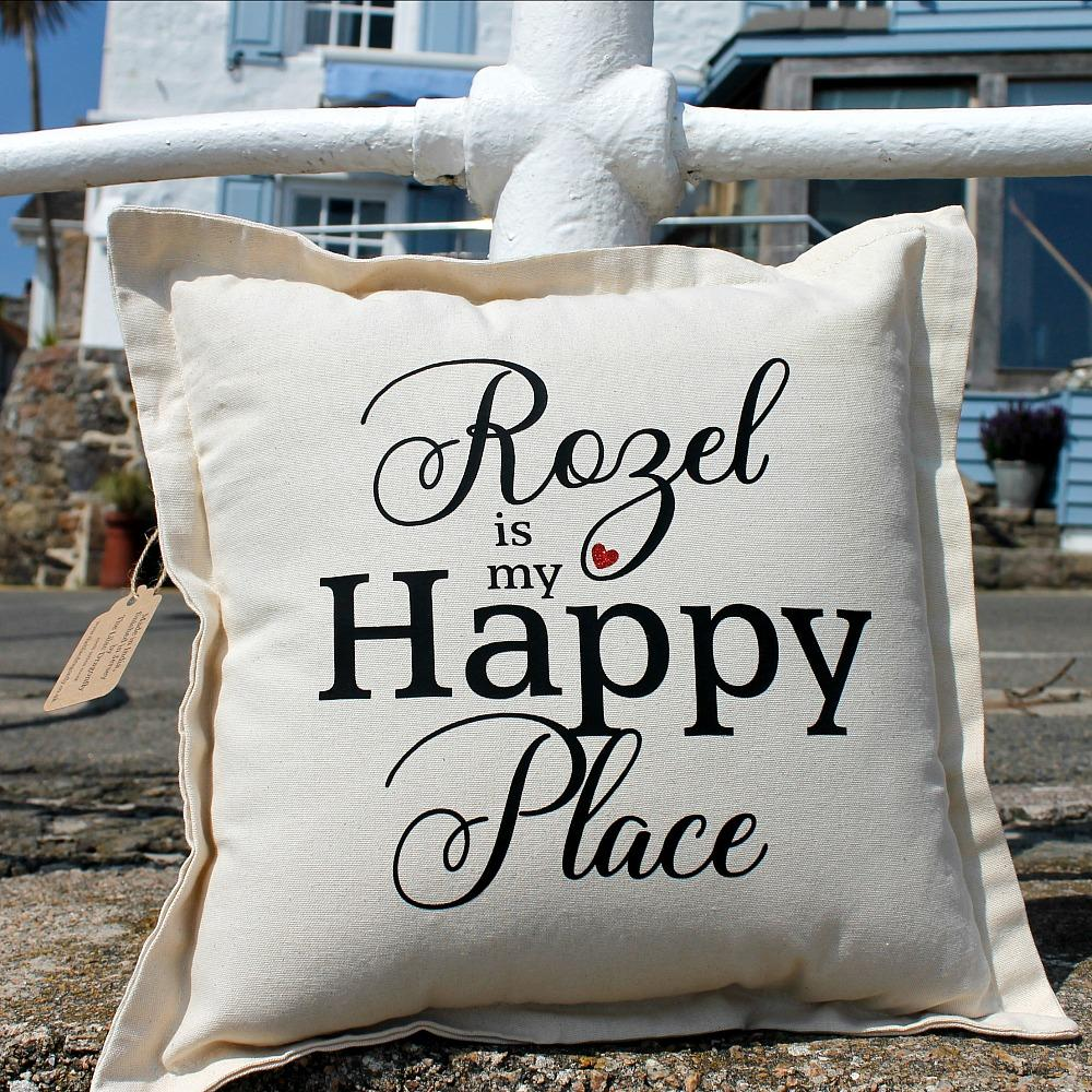 Rozel happy place cushion