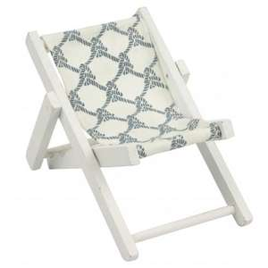 patterned mini deck chair