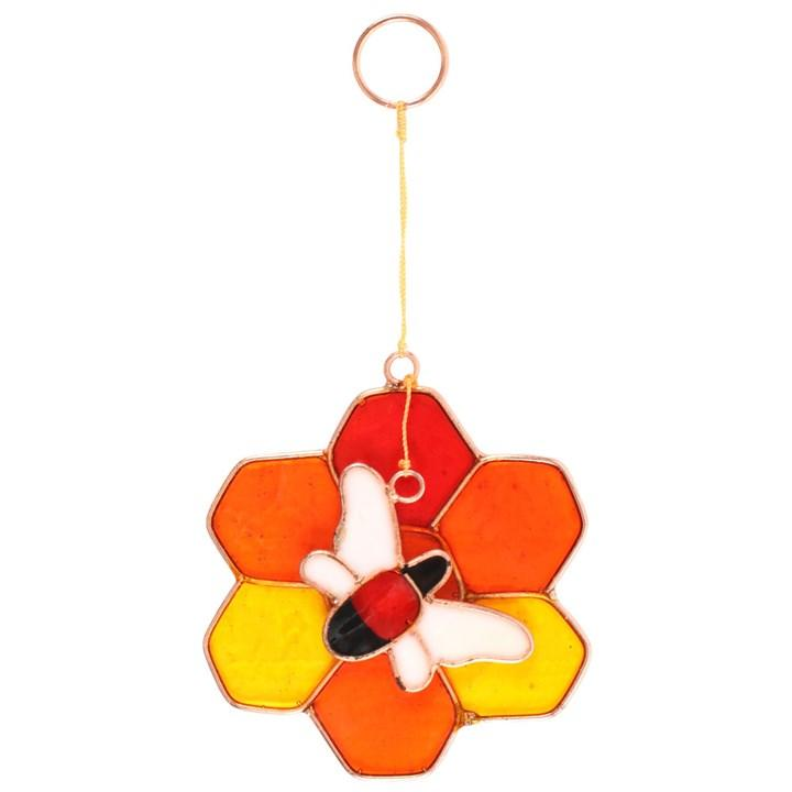 bee and honeycomb sun catcher