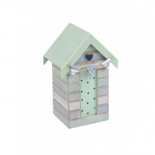 Beach hut money box heart