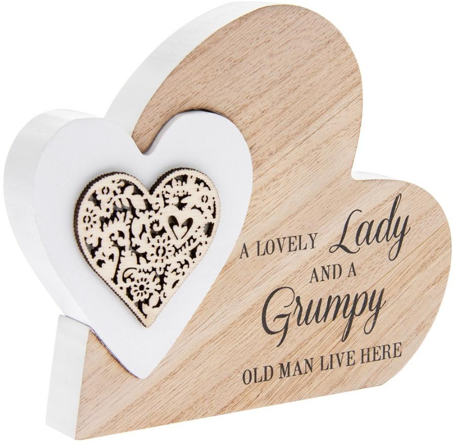 lovely lady grumpy man heart block