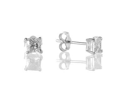 4mm square cut cz studs