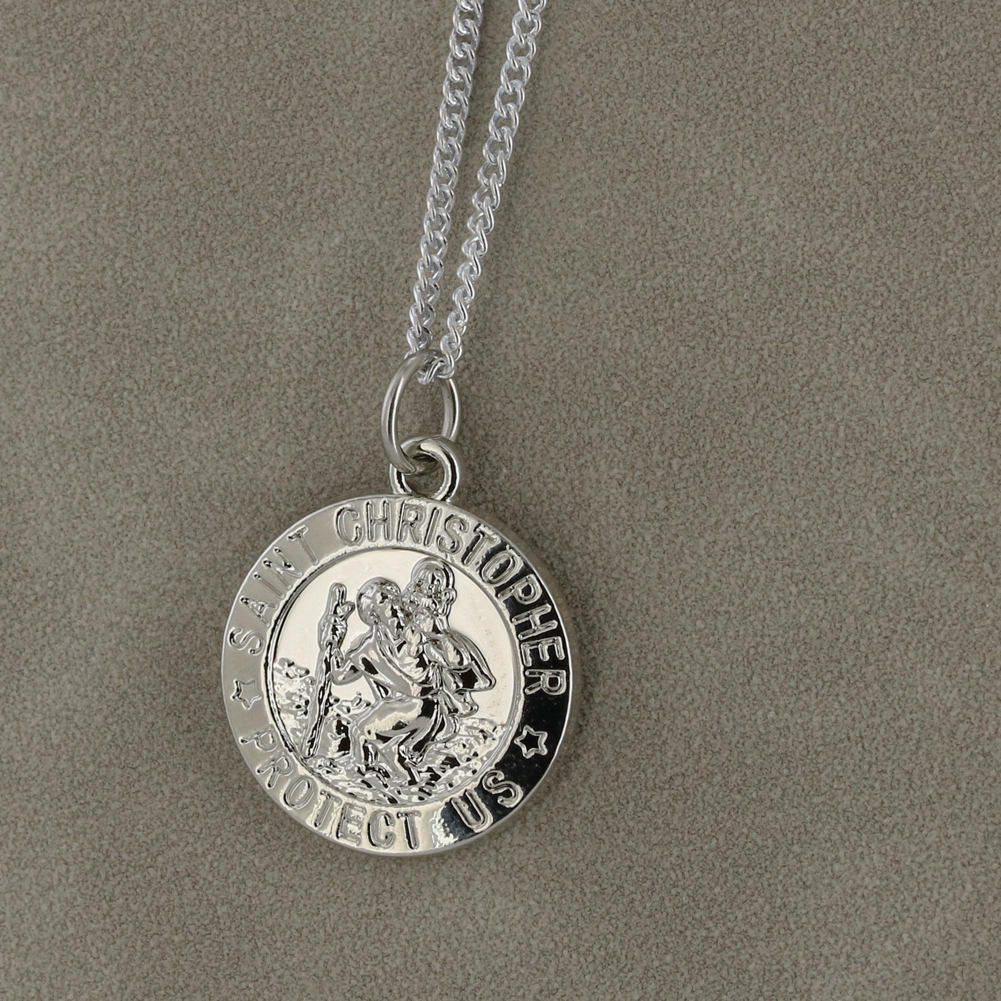 Silver Saint Christopher Necklace