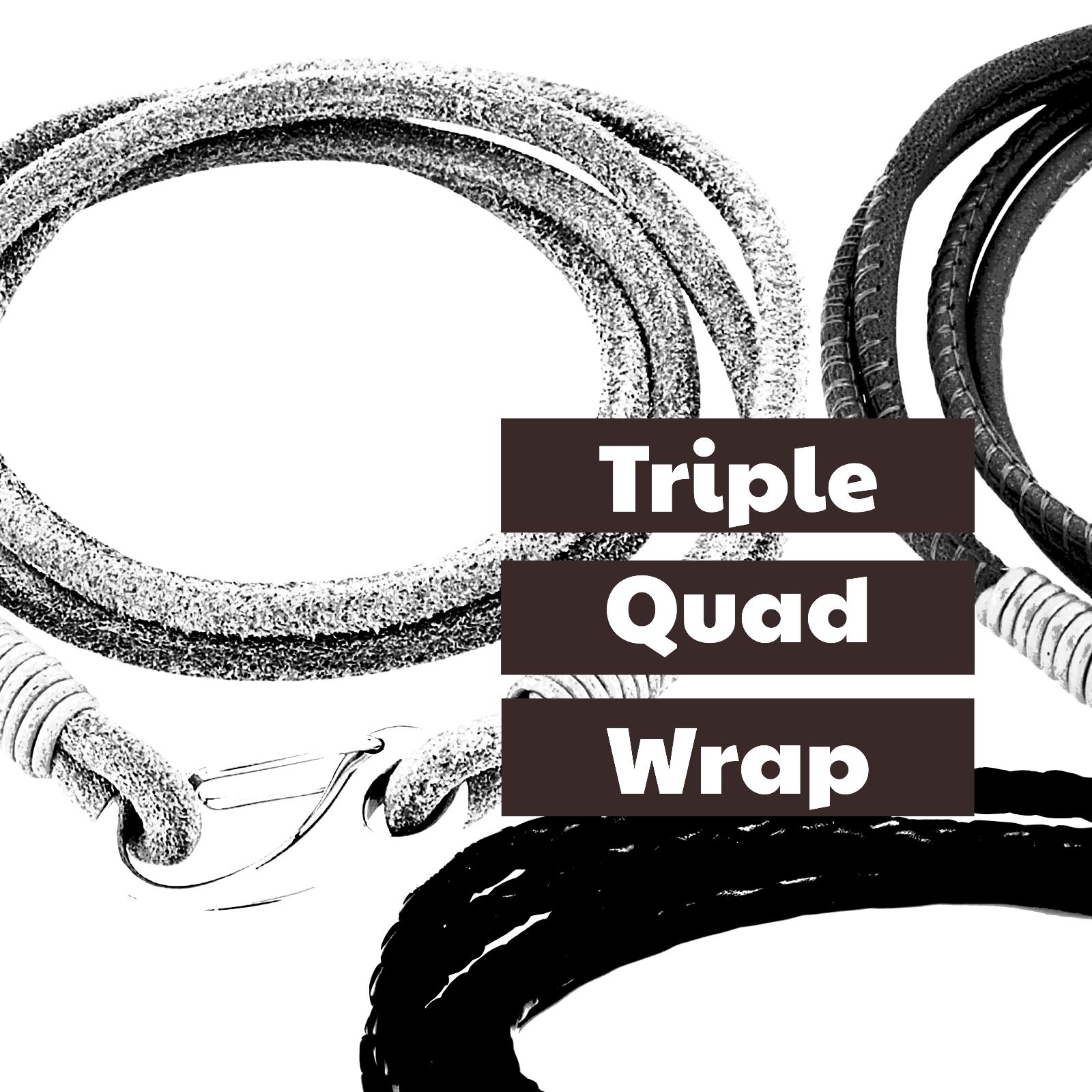 Triple and Quad Wrap Leather Bracelets