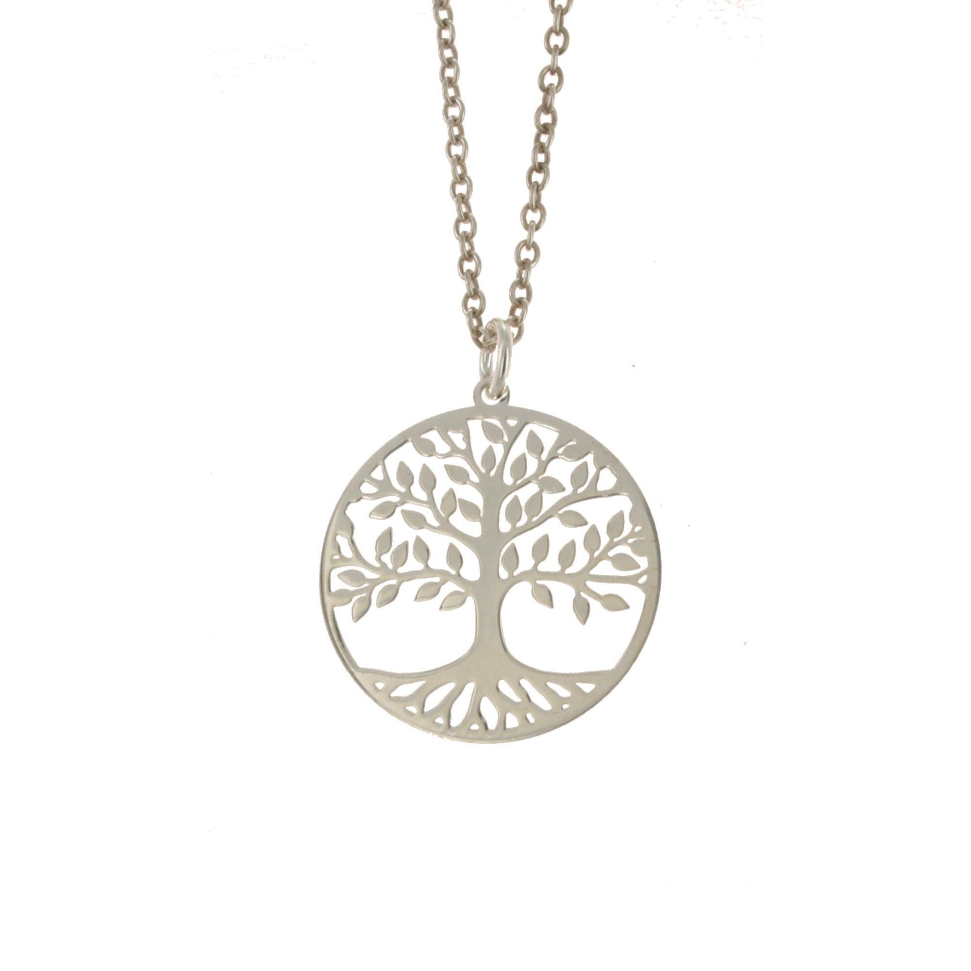Sterling Silver 20mm Tree of Life Pendant
