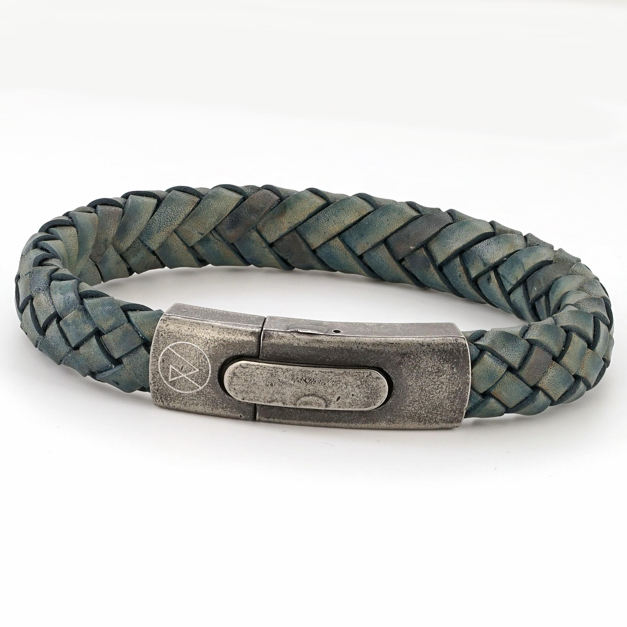 Mens Personalised Vintage Leather Bracelet