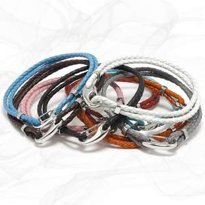 ROXCS  Superb Value Two Strap Bolo Leather Bracelet with a Petit Steel Lobster Clasp