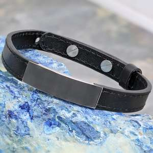 Personalized Unisex Coordinates Leather Bracelet with any engraving