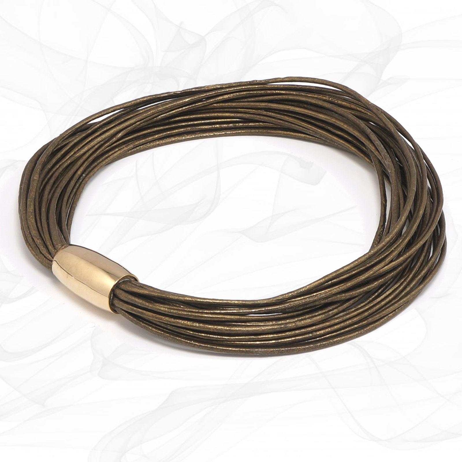 Bronze Multi Strand Leather Bracelet for Women, one size, Limited Edition.